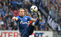 v.l. Holger Badstuber (Schalke), Jhon Cordoba<br /> Mainz, 19.03.2017, Fussball, Bundesliga, 1. FSV Mainz 05 - FC Schalke 04 0:1<br /> <br /> Norway only