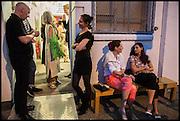 ROY VOSS; SHERA BATHURST; CHARLOTTE PHILLIPS; CANDIDA GERTLER, Matt's Gallery 35th birthday fundraising supper.  42-44 Copperfield Road, London E3 4RR. 12 June 2014.