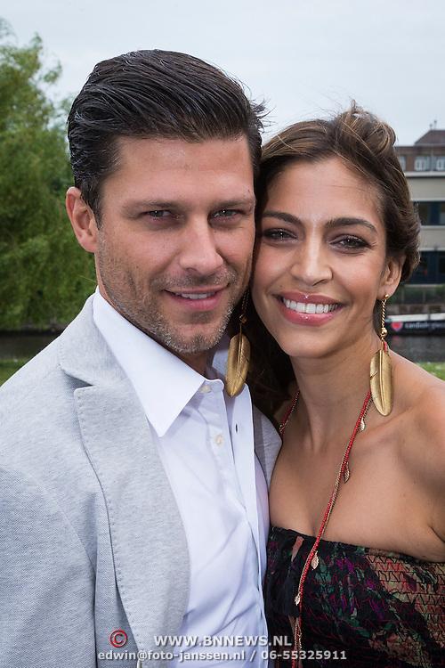"""NLD/Amsterdam/20130626 - Uitreiking Jackie""""s Best Dressed 2013, Touriya Haoud en partner Greg Vaughan"""