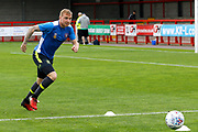 Carlisle United Midfielder Nicky Adams (10) warms up before kick off during the EFL Sky Bet League 2 match between Crawley Town and Carlisle United at the Checkatrade.com Stadium, Crawley, England on 30 September 2017. Photo by Andy Walter.