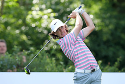 25.06.2015, Golfclub München Eichenried, Muenchen, GER, BMW International Golf Open, im Bild Tommy Fleetwood (ENG) am Abschlag, Tee // during the BMW International Golf Open at the Golfclub München Eichenried in Muenchen, Germany on 2015/06/25. EXPA Pictures © 2015, PhotoCredit: EXPA/ Eibner-Pressefoto/ Kolbert<br /> <br /> *****ATTENTION - OUT of GER*****