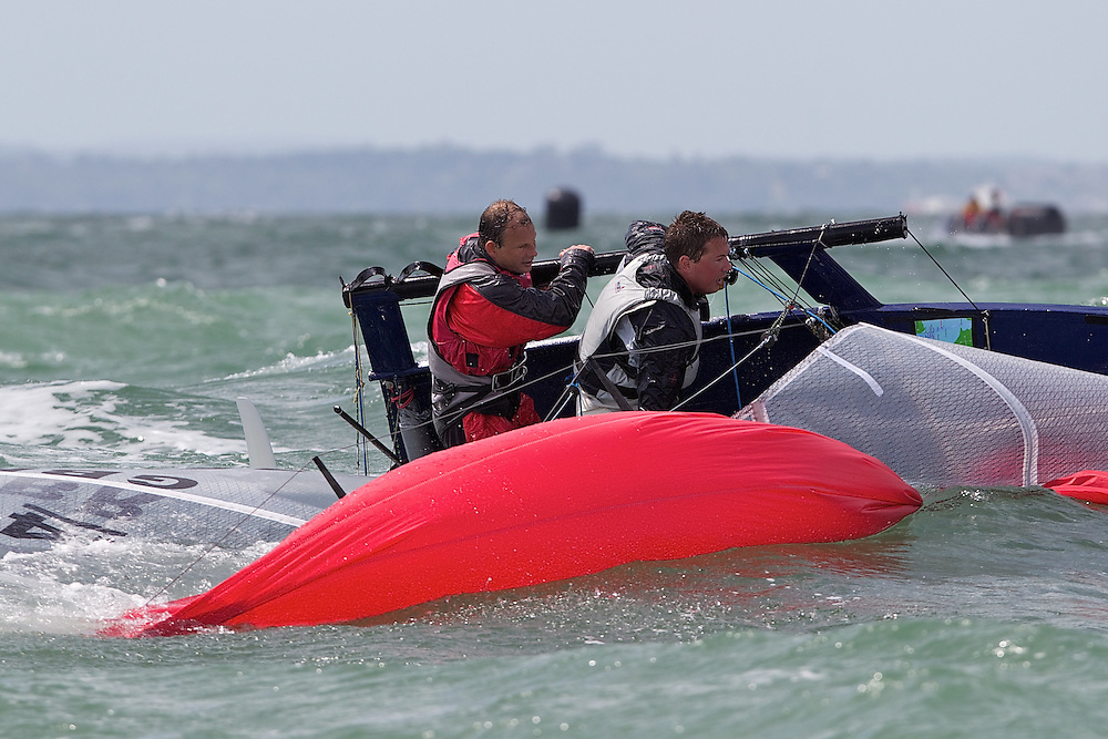 ENGLAND, Hayling Island, 17th July 2010, International 14 POW Week, POW Cup. Andrew Penman and Phil Kennard.