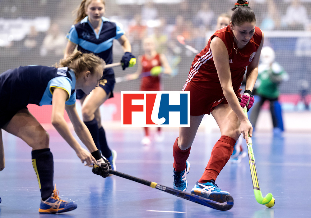 BERLIN - Indoor Hockey World Cup<br /> Bronze: Ukraine - Belarus<br /> foto: MIKHEICHYK Yuliya.<br /> WORLDSPORTPICS COPYRIGHT FRANK UIJLENBROEK