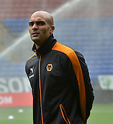 Carl Ikeme before the Sky Bet Championship match between Bolton Wanderers and Wolverhampton Wanderers at the Macron Stadium, Bolton, England on 12 September 2015. Photo by Mark Pollitt.
