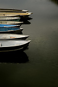 Boats are docked at Parker Canyon Lake, Coronado National Forest, Canelo, Arizona, USA.