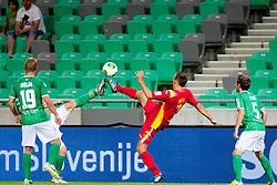 Ivan Firer #7 of NK Rudar during football match between NK Olimpija Ljubljana and NK Rudar Velenje in 1st Round of PrvaLiga Telekom Slovenije 2013/14 on July 13, 2013 in SRC Stozice, Ljubljana, Slovenia. (Photo By Urban Urbanc / Sportida.com)