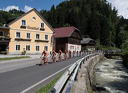 07.07.2016, Villach, AUT, Ö-Tour, Österreich Radrundfahrt, 5. Etappe, Millstatt auf den Dobratsch, im Bild Team CCC und Jan Hirt (CZE, CCC Sprandi Polkowice) // during the Tour of Austria, 5th Stage from Millstatt nach Dobratsch. Villach, Austria on 2016/07/07. EXPA Pictures © 2016, PhotoCredit: EXPA/ Reinhard Eisenbauer