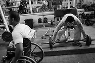 Many members of the Gaza Al Jazira paralympic team are being wonded during the many wars that affected the Gaza strip