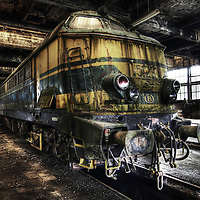 Disused train at SNBC Belgium