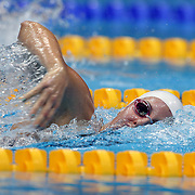 Alicia Coutts, Australia, in action in the Women's 4 x 200m Freestyle Relay Final which the Australian team won the SIlver Medal at the Aquatic Centre at Olympic Park, Stratford during the London 2012 Olympic games. London, UK. 1st August 2012. Photo Tim Clayton