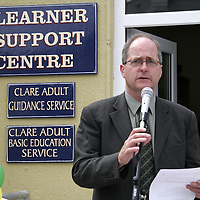 Sean Conlon Adult Education Officer at the opening of the new buildings for the Learner Support Centre in Kilrush last Friday.<br /> <br /> Photograph by Yvonne Vaughan.