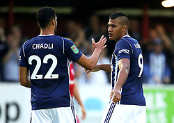 West Brom's Salomon Rondon celebrates after scoring his sides first goal  - Mandatory by-line: Matt McNulty/JMP - 22/08/2017 - FOOTBALL - Wham Stadium - Accrington, England - Accrington Stanley v West Bromwich Albion - Carabao Cup - Second Round