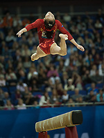 Lu SUI (CHN), competes in the beam, The London Prepares Visa International Gymnastics