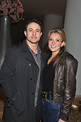 WARREN BROWN and HOLLY HENDERSON at an after show party following the opening night of All New People held at the St.Martin's Lane Hotel, London on 28th February 2012.