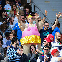 Fans during the Guinness Six Nations match between Italy and France on March 16, 2019 in Rome, Italy. (Photo by Dave Winter/Icon Sport)