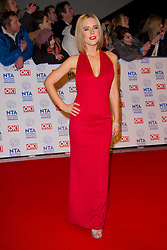 Stephanie Waring arrives at the National Television Awards at the 02 Arena, London Wednesday January 23, 2013. Photo by Chris Joseph / i-Images