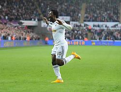 Swansea City's Wilfried Bony celebrates.- Photo mandatory by-line: Alex James/JMP - Mobile: 07966 386802 - 29/11/2014 - Sport - Football - Swansea -  - Swansea v Crystal palace  - Barclays Premier League