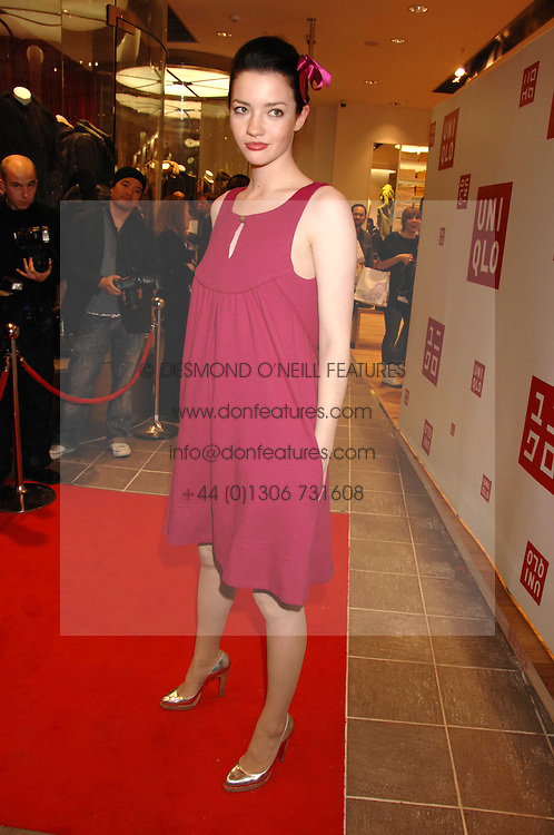 Actress TALULAH RILEY at a party to celebrate the opening of the new Uniqlo store at 331 Oxford Street, London W1 on 6th November 2007.<br /><br />NON EXCLUSIVE - WORLD RIGHTS
