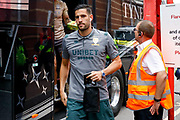 Leeds United goalkeeper Francisco Casilla (13) arriving  during the EFL Sky Bet Championship match between Bristol City and Leeds United at Ashton Gate, Bristol, England on 4 August 2019.