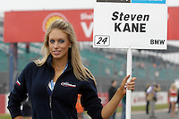 2008 British Touring Car Championship.Silverstone, Northamptonshire, United Kingdom.  30th-31st August 2008..Motorbase Performance Grid Girl.World Copyright: Peter Taylor/PSP