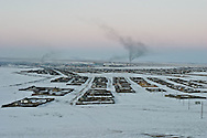 Mongolia. Karakorum city.  snow, winter /  Hakhorin  Karakorum -    /  karakorum, (hakhorin) dans la neige en hiver  Hakhorin - Mongolie  /  L0009869