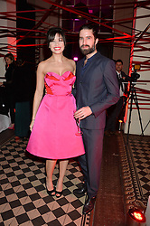 DAISY LOWE and JACK GUINNESS at the Tunnel of Love art and fashion auction and dinner in aid of the British Heart Foundation held at One Mayfair, London on 12th November 2013.