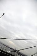 cables of a modern suspension bridge Tokyo Bay