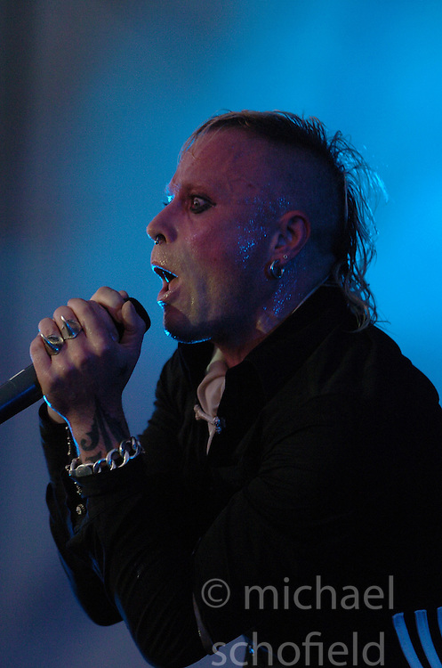 Keith Flint of The Prodigy headline on the Radio 1/NME Stage on Sunday. on Sunday 10th July, 2005 at the two-day T in the Park festival, at Balado, Kinross-shire, Scotland..