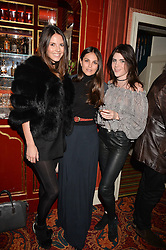 Stephanie Peers, Holly Scarsella, Lexi Abrams at a party to launch the Barr & Bass 'Aya' brand at Mark's Club, 46 Charles Street, Mayfair, London England. 14 December 2016.