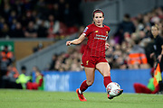 Liverpool women defender Leighanne Robe (3) during the FA Women's Super League match between Liverpool Women and Everton Women at Anfield, Liverpool, England on 17 November 2019.