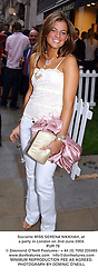 Socialite MISS SERENA NIKKHAH, at a party in London on 2nd June 2004.<br /> PUR 78