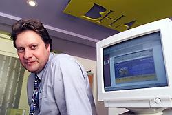 Portraits of Mark Jones Head of New Media at Bernard Hodes, London, July 28, 2000. Photo by Andrew Parsons/i-Images.