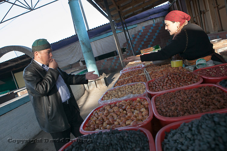 Dried fruit and nuts. Osh, Kyrgyzstan. 2013.