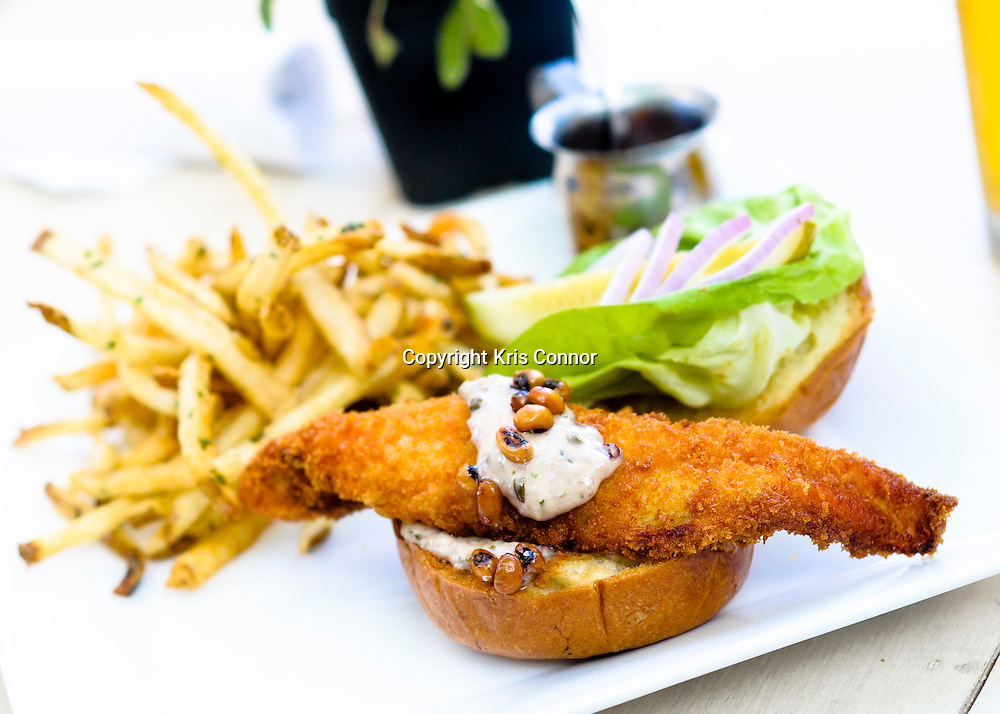 Alabama catfish sandwich with butter lettuce remoulade at Blue Ridge in Washington DC.