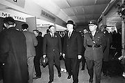 05/05/1965<br /> 05/05/1965<br /> 05 May 1965<br /> President Eamon de Valera visits the RDS Spring Show at Ballsbridge Dublin. Mr. J. Meenan, M.A. BL., Chairman of the Executive Committee of the RDS is on the left.