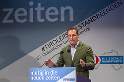 06.04.2019, Congresspark, Igls, AUT, 32. Ordentlicher Landesparteitag der FPÖ Tirol, am Freitag, 12. April 2019, während dem 32. Ordentlicher Landesparteitag der FPÖ Tirol, in Igls, im Bild Bundesparteiobmann VK Heinz-Christian Strachea // during the 32th Ordinary party convention of the FPÖ Tyrol at the Congresspark in Igls, Austria on 2019/04/06. EXPA Pictures © 2019, PhotoCredit: EXPA/ Johann Groder