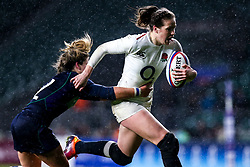 Emily Scarratt of England Women is tackled - Mandatory by-line: Robbie Stephenson/JMP - 16/03/2019 - RUGBY - Twickenham Stadium - London, England - England Women v Scotland Women - Women's Six Nations