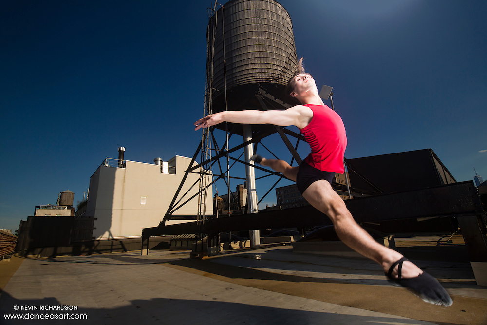 New York City Rooftop Dance As Art Photography Project- featuring dancer, Jake Speakman
