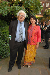LORD & LADY DESAI at the 21st annual Macmillan Cancer Support Parliamentary Tug of War held in Westminster College Gardens, London on 10th June 2008.<br /><br /><br />NON EXCLUSIVE - WORLD RIGHTS
