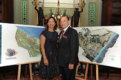 A party to promote the exclusive Puntacana Resort & Club - the Caribbean's Premier Golf & Beach Resort Destination, was held at Spencer House, London on 13th May 2010.<br /> <br /> Picture shows:- Left to right, OSCAR DE LA RENTA, MR & MRS FRANK RAINIERI.
