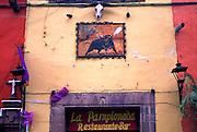 MEXICO, SAN MIGUEL ALLENDE La Pamplonada restaurant