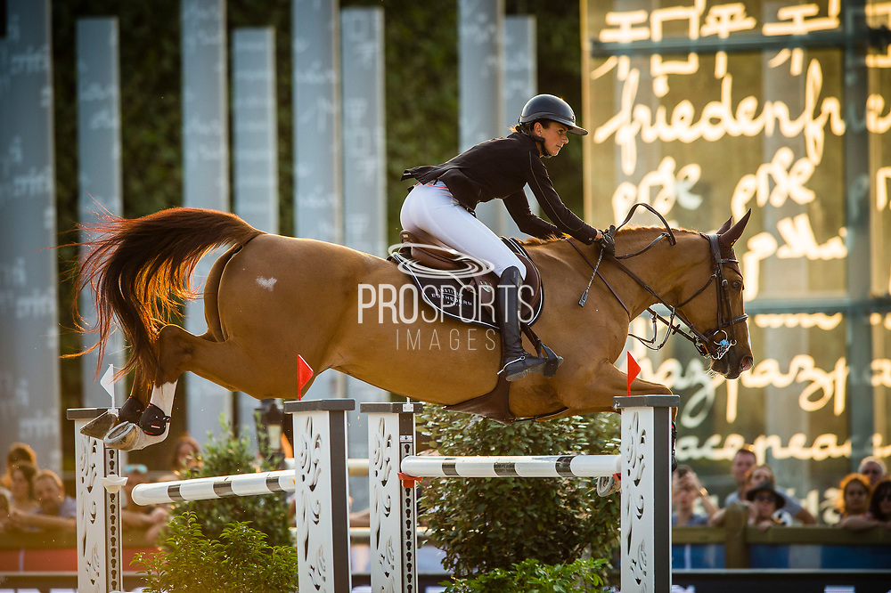 Paris, France : Penelope Leprevost riding Gain Line during the Longines Paris Eiffel Jumping 2018, on July 5th to 7th, 2018 at the Champ de Mars in Paris, France - Photo Christophe Bricot / ProSportsImages / DPPI