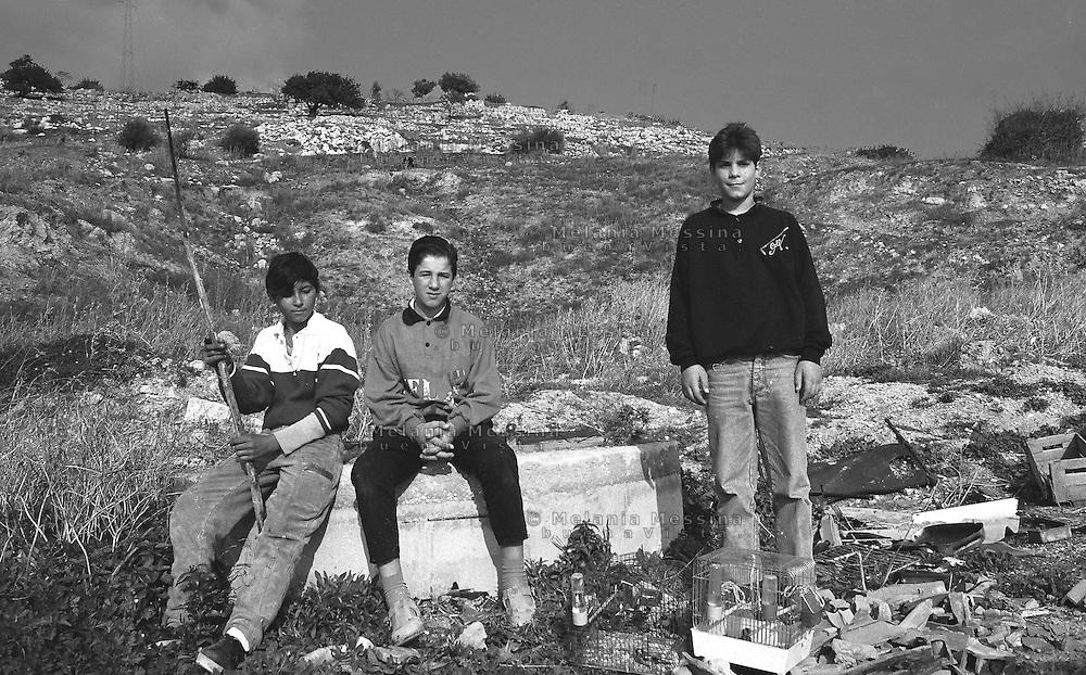 Young sheperds in Sicily.<br /> Giovani pastori in Sicilia.