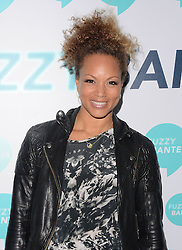 Angela Griffin attends launch party of Fuzzy Banter a new dating app which keeps users faces blurry untill they choose to reveal themselves to their matches. Held at La Sala, Chigwell Road, Essex on Monday 16 March 2015