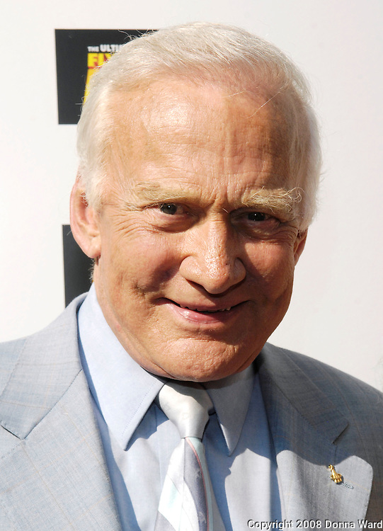 Astronaut Buzz Aldrin arrives for the premiere of 'Fly Me To The Moon' at the Regal Union Square Theater in New York City, USA on July 31, 2008.