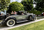 Como, Italy, Concorso d'Eleganza Villa D'Este, Cadillac V16, entrant Frederic Lax