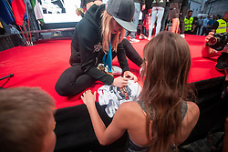 Janja Garnbret signing autograph during PZS reception of Slovenian national climbing team after IFSC Climbing World Championships in Hachioji (JPN) 2019, on August 23, 2019 at Ministry of Education, Science and Sport, Ljubljana, Slovenia. Photo by Grega Valancic / Sportida