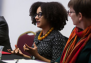 Brigitte Fielder speaks during the Cap Times Idea Fest 2018 at the Pyle Center in Madison, Wisconsin, Saturday, Sept. 29, 2018.