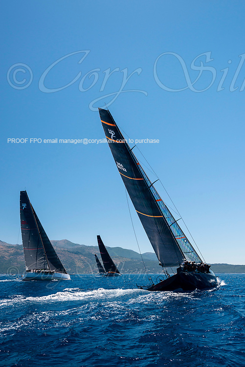 Proteus sailing in the  Corfu Challenge, day five.