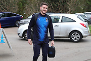 AFC Wimbledon goalkeeper Joe McDonnell (24) arriving during the EFL Sky Bet League 1 match between AFC Wimbledon and Barnsley at the Cherry Red Records Stadium, Kingston, England on 19 January 2019.